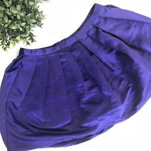 NWOT Topshop Purple Bubble Pleated Mini Skirt